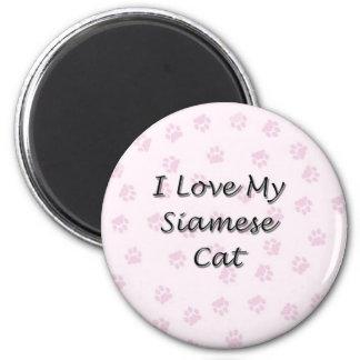 I Love My Siamese Cat Magnet