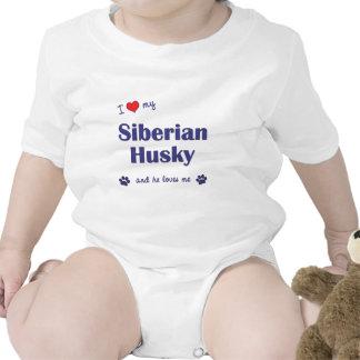 I Love My Siberian Husky (Male Dog) Shirt