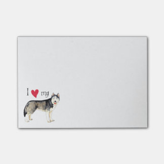 I Love my Siberian Husky Post-it Notes