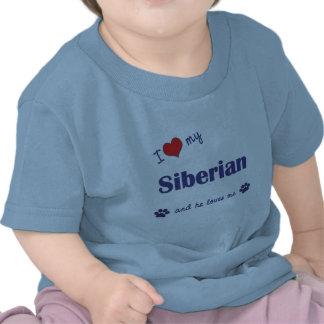 I Love My Siberian (Male Cat) T-shirt