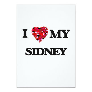 I love my Sidney 9 Cm X 13 Cm Invitation Card
