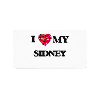 I love my Sidney Address Label