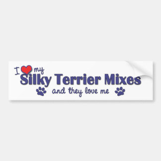 I Love My Silky Terrier Mixes (Multiple Dogs) Bumper Sticker
