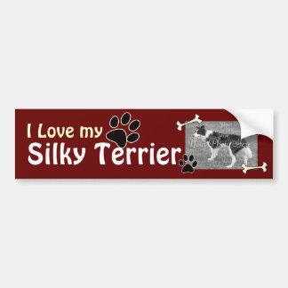 I love my Silky TerrierBumper Sticker Car Bumper Sticker