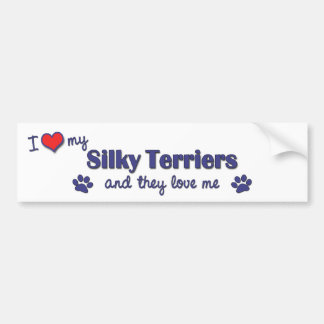I Love My Silky Terriers (Multiple Dogs) Bumper Sticker