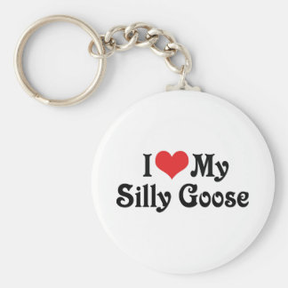 I Love My Silly Goose Keychains