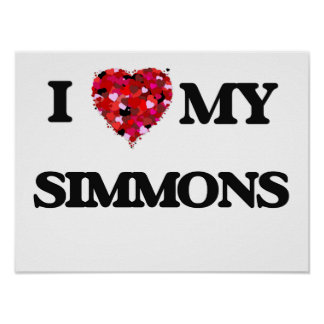 I Love MY Simmons Poster