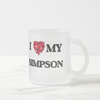 I Love MY Simpson Frosted Glass Mug