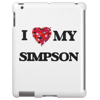 I Love MY Simpson iPad Case