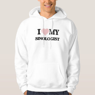 I love my Sinologist (Heart Made from Words) Hooded Sweatshirts