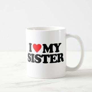 I LOVE MY SISTER BASIC WHITE MUG