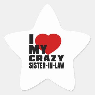 I LOVE MY SISTER-IN-LAW STAR STICKER