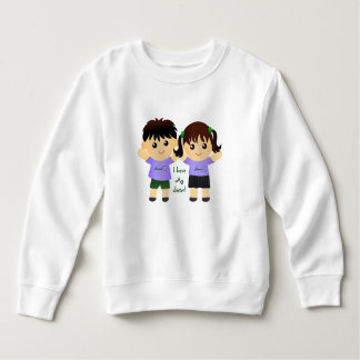 """I Love My Sister"" Names Whimsical T-shirt"
