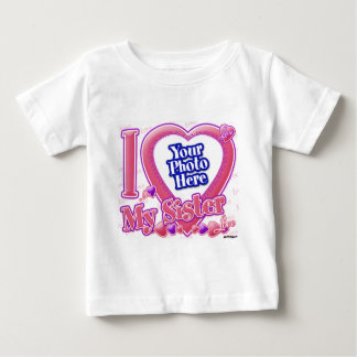 I Love My Sister pink/purple - photo Baby T-Shirt