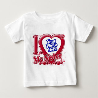 I Love My Sister red heart - photo Infant T-Shirt