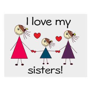 I Love My Sister Postcards Zazzle Uk