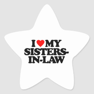 I LOVE MY SISTERS-IN-LAW STAR STICKER