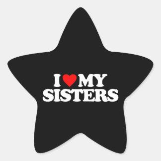 I LOVE MY SISTERS STAR STICKER