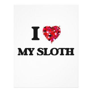 I love My Sloth 21.5 Cm X 28 Cm Flyer