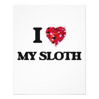 I love My Sloth 11.5 Cm X 14 Cm Flyer