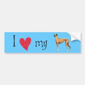 I Love my Sloughi Bumper Sticker