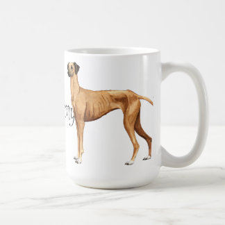 I Love my Sloughi Basic White Mug