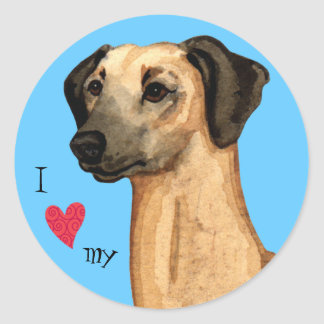 I Love my Sloughi Round Sticker