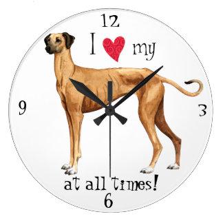 I Love my Sloughi Wall Clock