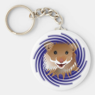 I love my small hamster basic round button key ring