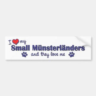 I Love My Small Munsterlanders (Multiple Dogs) Car Bumper Sticker
