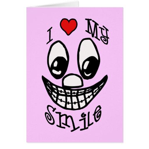 I Love My Smile Greeting Card