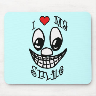 I Love My Smile Mouse Mat