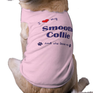 I Love My Smooth Collie Female Dog Doggie T-shirt
