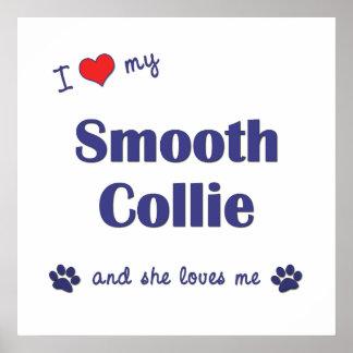 I Love My Smooth Collie Female Dog Print