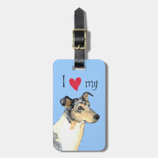 I Love my Smooth Collie Luggage Tag