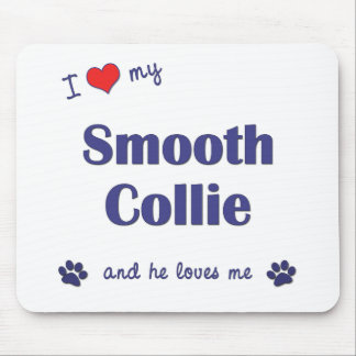 I Love My Smooth Collie (Male Dog) Mouse Mats