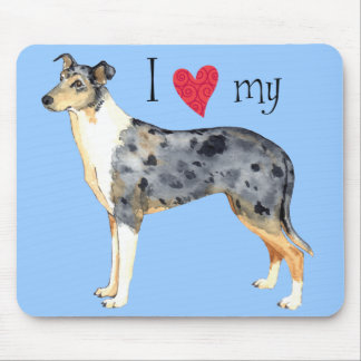 I Love my Smooth Collie Mouse Pad