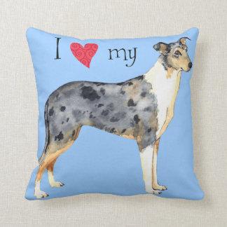 I Love my Smooth Collie Throw Cushions