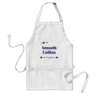I Love My Smooth Collies Multiple Dogs Aprons