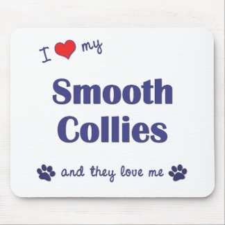I Love My Smooth Collies (Multiple Dogs) Mouse Mats