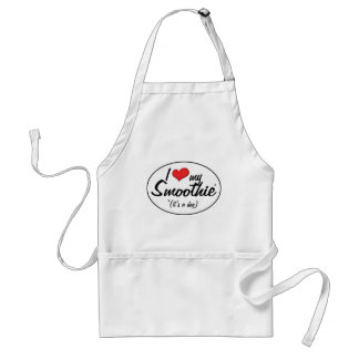 I Love My Smoothie (It's a Dog) Standard Apron