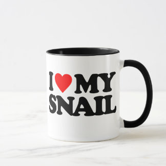 I LOVE MY SNAIL MUG
