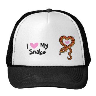 I Love My Snake (customize species name) Cap