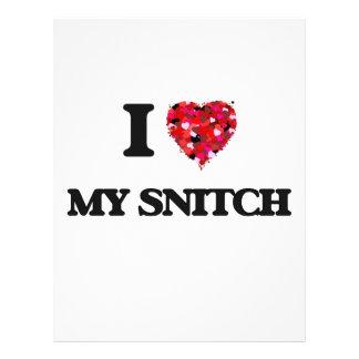 I love My Snitch 21.5 Cm X 28 Cm Flyer
