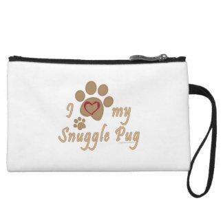 I Love My Snuggle Pug Wristlets