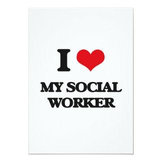 "I love My Social Worker 5"" X 7"" Invitation Card"