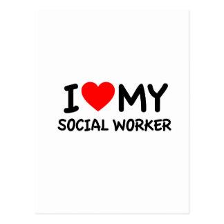 I love my Social Worker Postcards