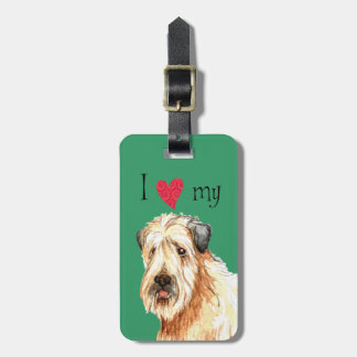 I Love my Soft Coated Wheaten Terrier Bag Tag