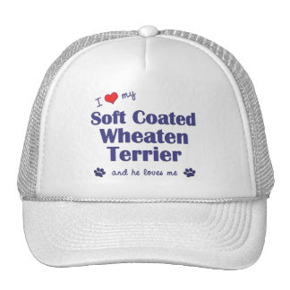 I Love My Soft Coated Wheaten Terrier Male Dog Mesh Hat