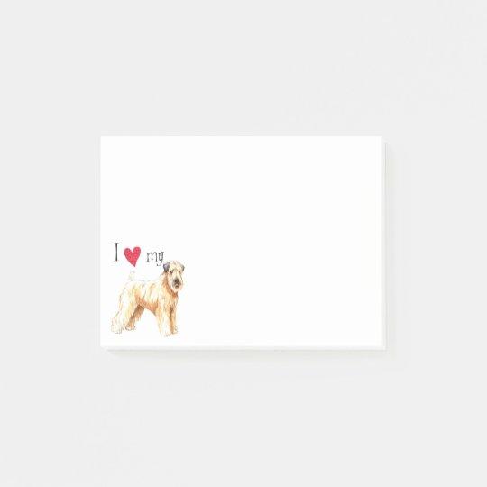 I Love my Soft Coated Wheaten Terrier Post-it